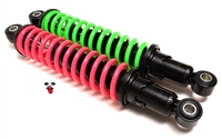 ltd edition NEON PINK / GREEN combo adjustable shocks - 300mm