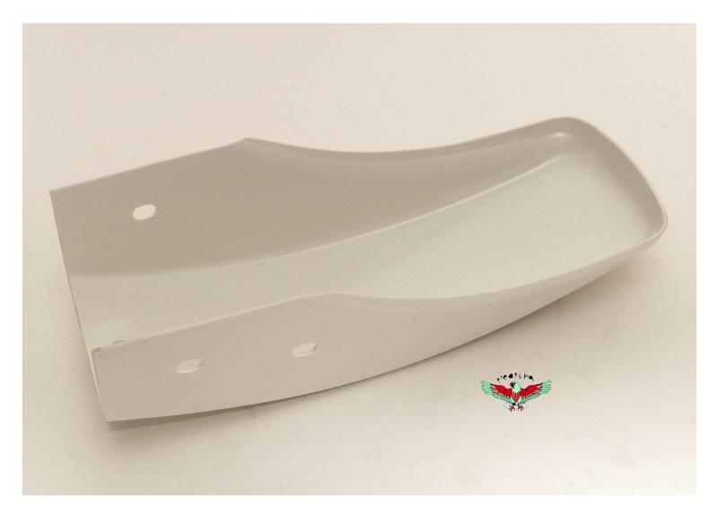 Half Fender Plastic : White plastic lil front fender for dirt peds