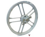 "USED fantic motor front 16"" five star mag wheel - grey"