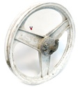 "USED peugeot grimeca front 16"" WHITE 3 star mag wheel"
