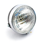 moped chrome black headlight mopeds