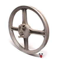 "USED vespa 16"" front 4 star mag wheel - offset brake plate"