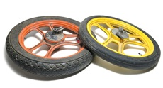 grimeca 3 star mag wheel set - ORANGE n YELLER - 16""