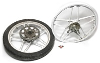"USED 17"" 5 star mag wheel set for sachs n minarelli - white"