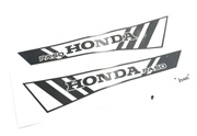 honda HOBBIT tank decal set - black stripes v2