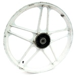 "USED 17"" grimeca front 5 star hobbit mag wheel - WHITE"