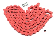 "red 1/8"" bicycle chain - 112 links"