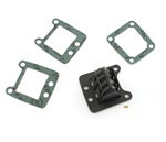 malossi VL8 4 petal carbon fiber reed block with gaskets - carbonio
