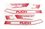 puch magnum RED decal set