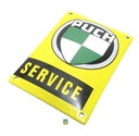 puch service YELLOW enamel sign - little version