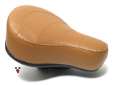 puch moped stock seat - THIN version - CARAMEL