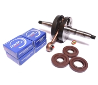 puch E50 crankshaft UNSTUFFED + VITON seals + NACHI bearings party