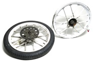 "USED 16"" snowflake mag wheel set for sachs n minarelli - white"