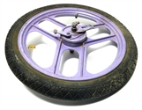 "USED 16"" grimeca 3 blade PURPLE front mag wheel"
