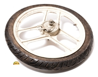 "USED 16"" grimeca 3 blade WHITE front mag wheel"