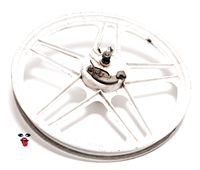 "USED white 16"" grimeca 5 star mag wheel"