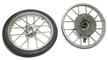 "USED 16"" italian snowflake mag set for a moped"