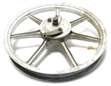 "USED 17"" white 7 spoke wagon mag"