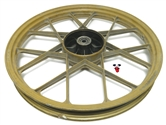 "USED 17"" grimeca front snowflake mag wheel - GOLD"