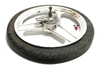 "USED 17"" white rear grimeca 3 star mag wheel"