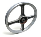 USED vespa 4 star front mag wheel - black n grey
