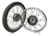 "USED 16"" vespa BRAVO spoke wheel set - no tranny"