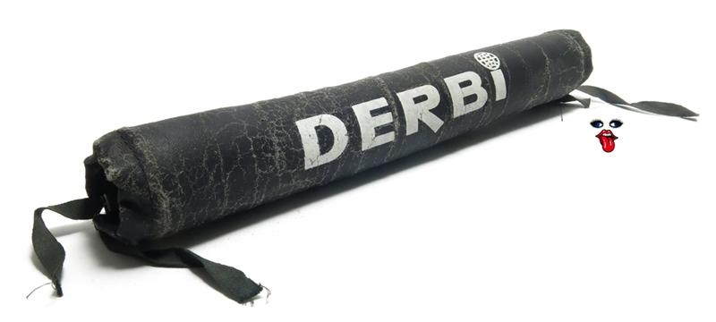 vintage derbi handlebar pad - BLACK
