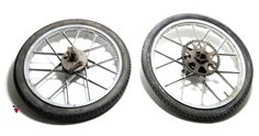 "USED 17"" zundapp snowflake mag wheel set for many"