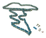 415HD drive chain - 128 links - METALLIC BLUE