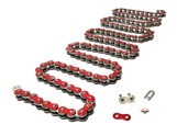 415HD drive chain - 128 links - METALLIC RED
