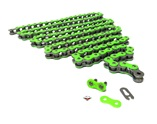 415HD drive chain - 128 links - NEON GREEN