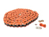 415HD drive chain - 128 links - NEON ORANGE