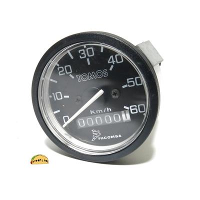 Tomos Oem 60km H Speedometer Black Background White