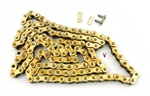 420 gold & gold motorcycle chain - 120 links