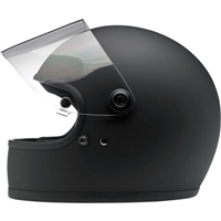 biltwell GRINGO S helmet - FLAT black - with face shield