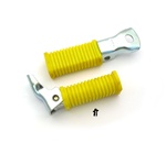 moped foot pegs - yellow with a lil rust so they're cheaper