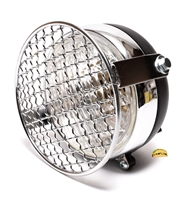 "universal 5"" moped headlight WITH grill - CHROME"
