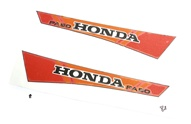 honda HOBBIT tank decal set - 1982 black/orange/red