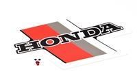 OEM honda tank decal - red / grey / black