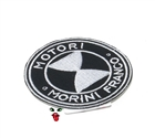 MOPED THREADS morini logo patch - mostly black with some white