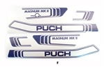 puch magnum PURPLE decal set