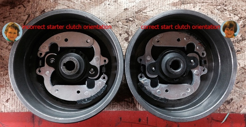 how to inspect and clean vespa clutch and bell