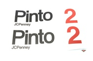 JCPenny PINTO 2 tank decal set - black & red