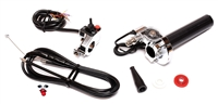 STAGE 6 aluminum short pull throttle assembly with maximum accessories - CHROME