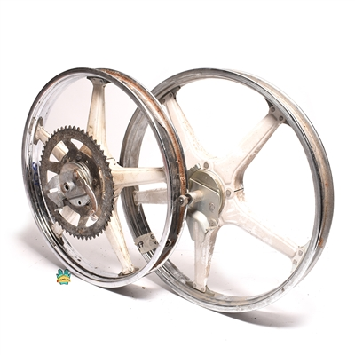 "USED 17"" confuser mag wheel set in white"