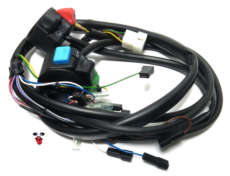 tomos OEM harness 232990 2 tomos oem main wiring harness for all tomos nitro 50cc wiring harnesses at gsmx.co