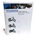 tomos OEM classic moped line spare parts manual 2003-2006