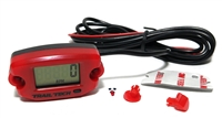 trail tech tachometer V2 featuring FRONT mount button and clock!!! - RED